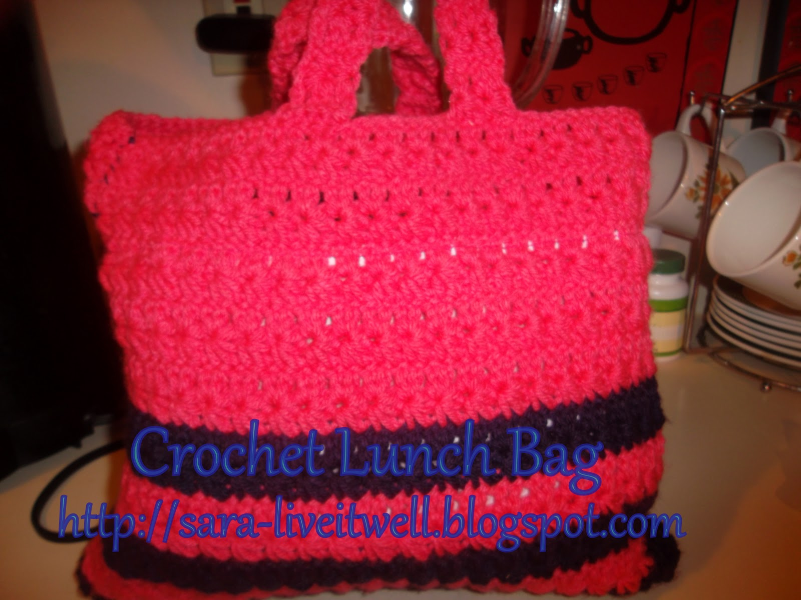 Live it well: Crochet Lunch Bag