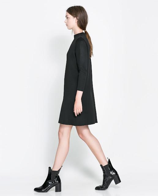 funnel collar dress