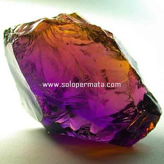 Artikel Batu Permata Natural Ametrine - kecubung Ungu dan Kuning