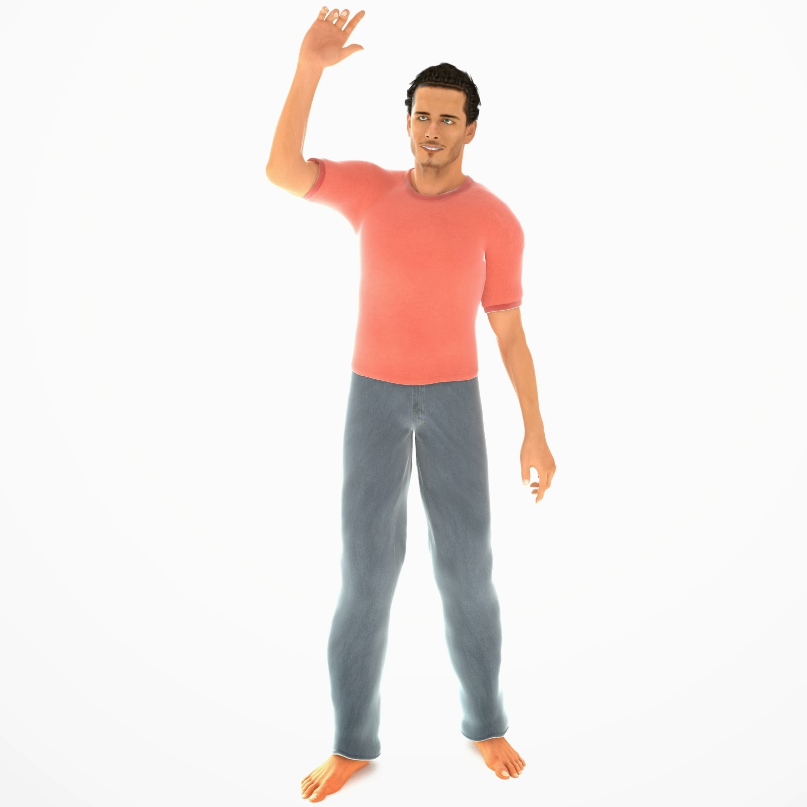 3d Male Character Models Free Stock 3d Models Library