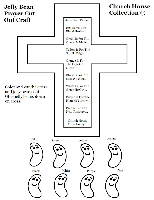 Church House Collection Blog Jelly Bean Prayer Cross Cut Jelly Bean Prayer Coloring Page