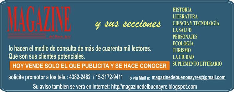 PUBLICITE EN MAGAZINE del Buen Ayre