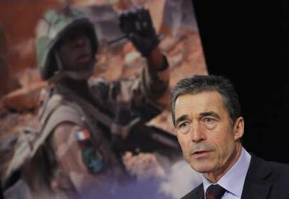 Anders Fogh Rasmussen, Secretary General, NATO, a 28-nation intergovernmental military alliance