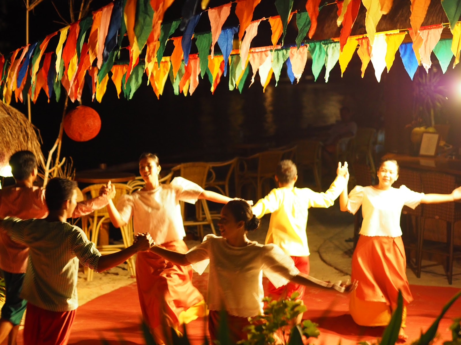 Local dancers in the philippines