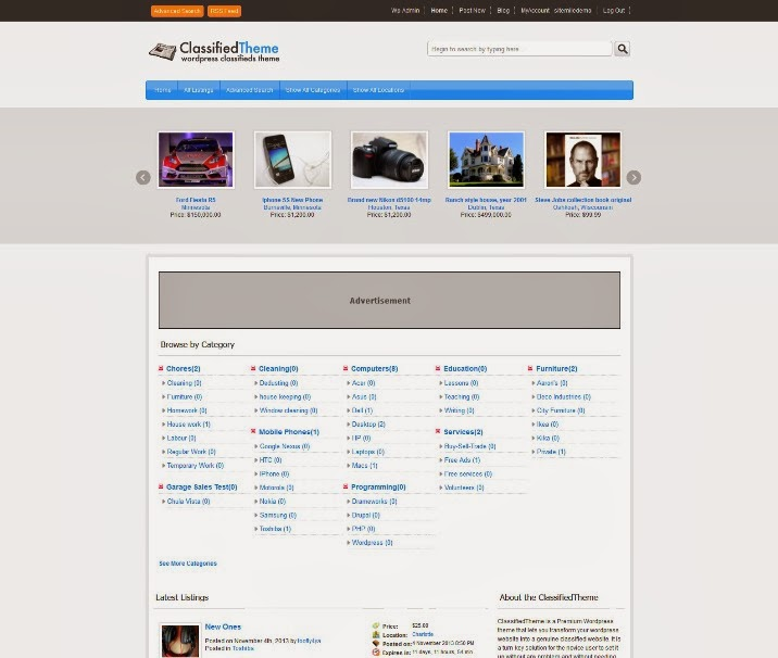 WordPress Classified Ads Theme