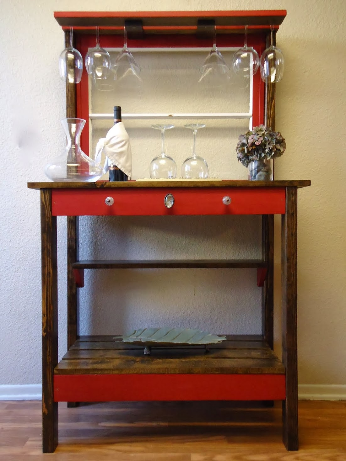 Two Pane Vintage Window Accent Table - SOLD
