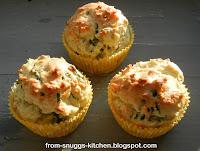 Bärlauch-Muffins mit Nüssen & Käse