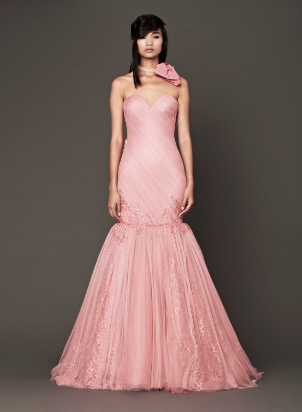 The well appointed catwalk guest post think pink at mfa for Pink wedding dress vera wang