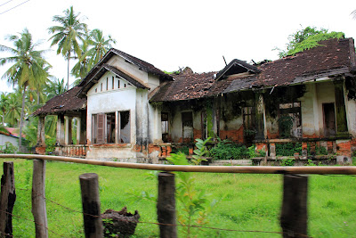 Former French school on the island Don Khon (Si Phan Don, Laos)