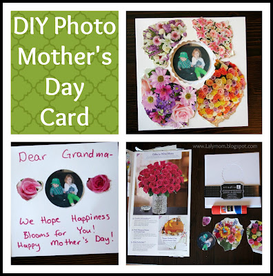 DIY Photo Mother's Day Card Craft from Lalymom