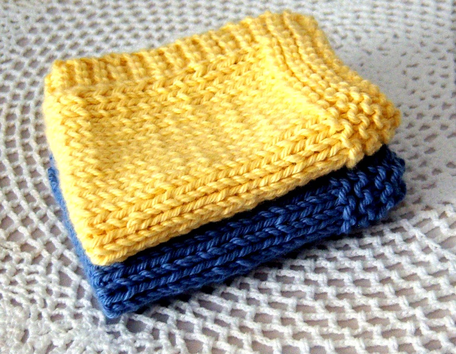Knitting Dishcloths Easy : Shoregirl s creations knitted dishcloths