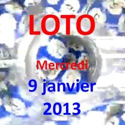 Résultat du LOTO - tirage du mercredi 9 janvier 2013