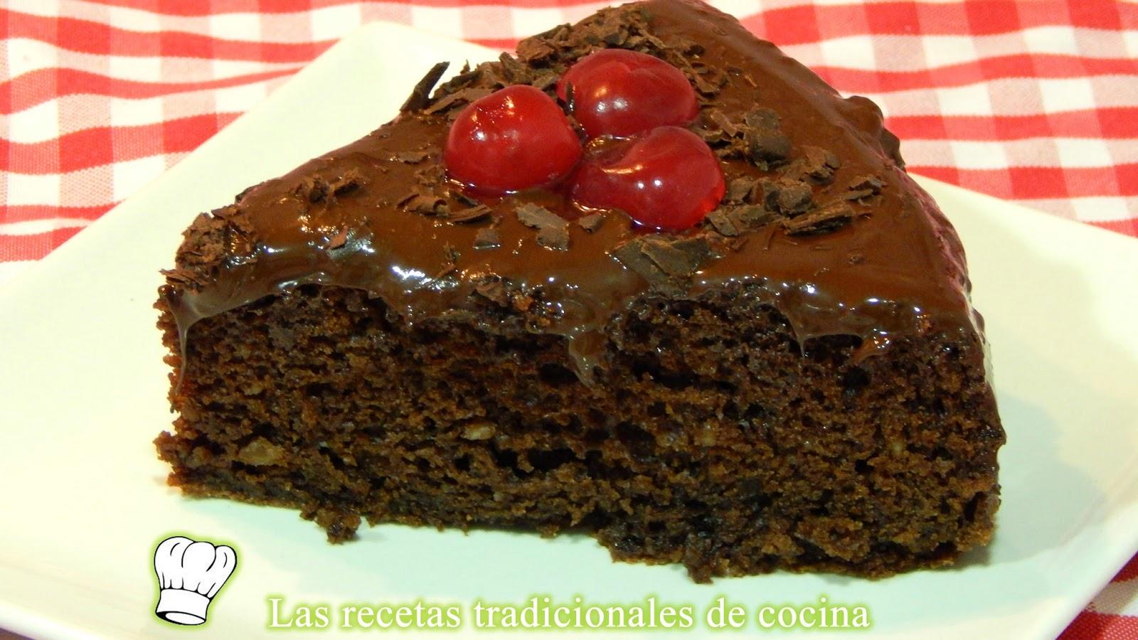 tarta esponjosa de chocolate