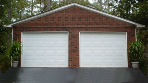 Brick laminate picture brick garages for Building a brick garage
