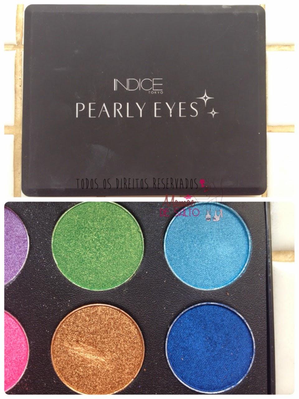 paleta sombras pearly eyes indice tokyo => blog Mamãe de Salto