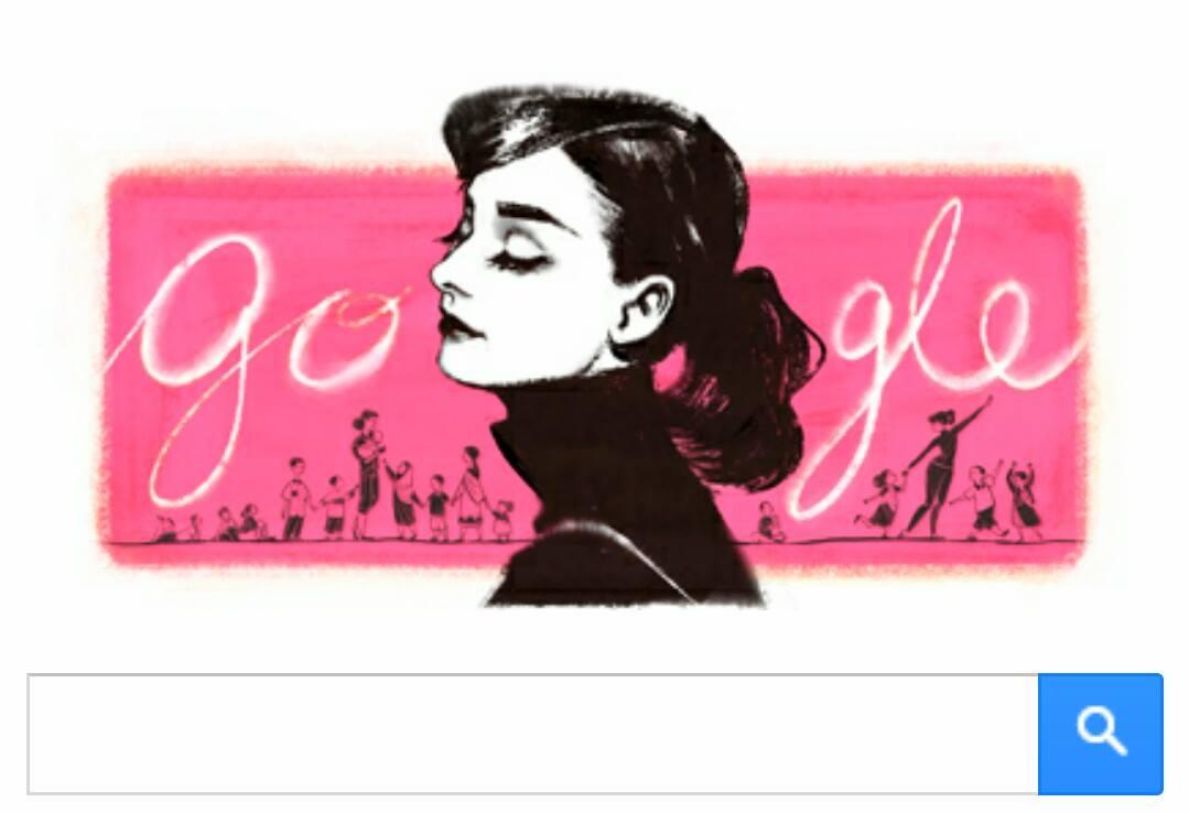 Google Doodle Audrey Hepburn Aktris Dari Inggris (Biografi)