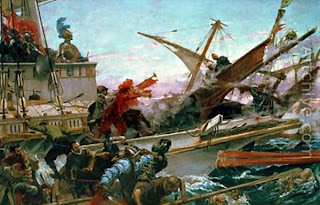 Filipino Painter Juan Luna - The Battle of Lepanto (Painting)