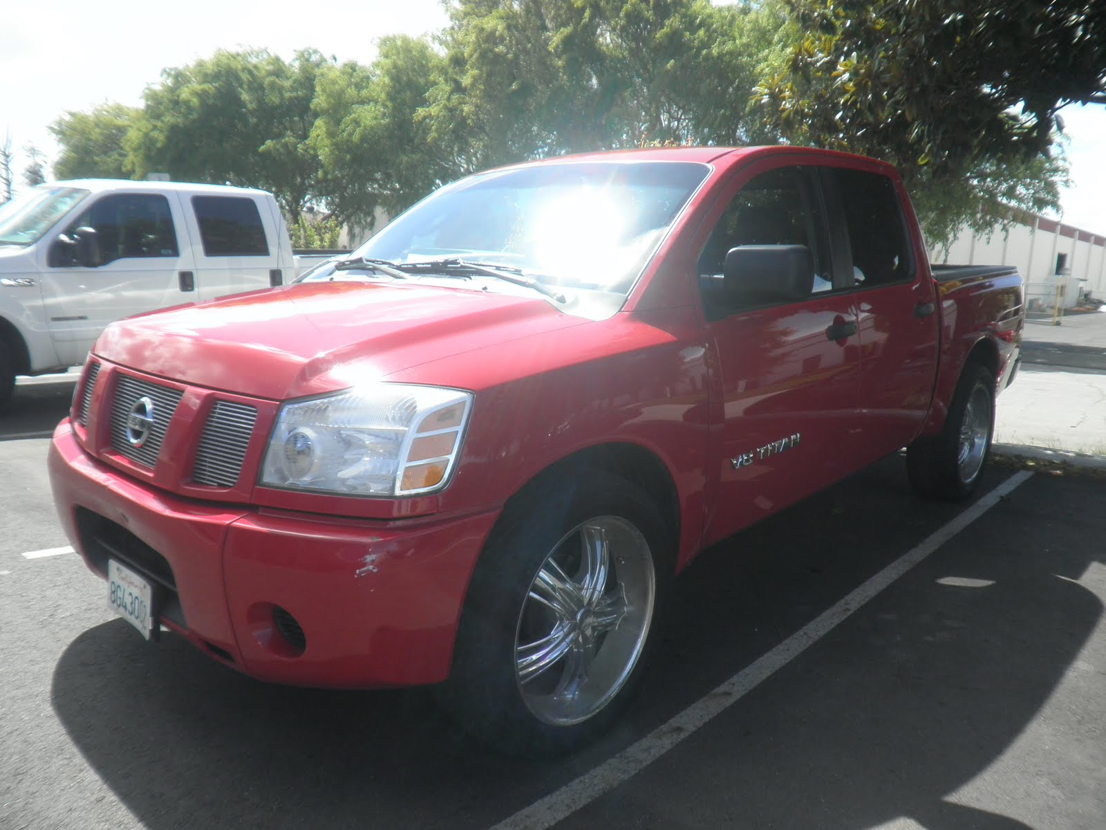 2007 Nissan Titan With Big Dent Repaired