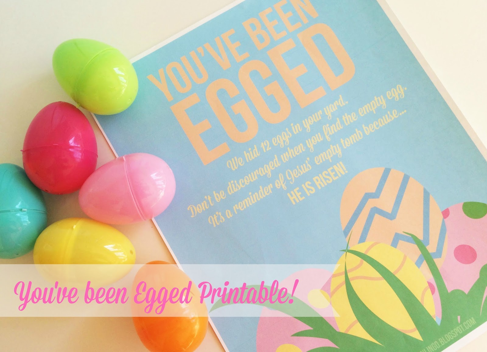 photo relating to You've Been Egged Printable called The Larson Lingo: Youve Been Egged! No cost Printable