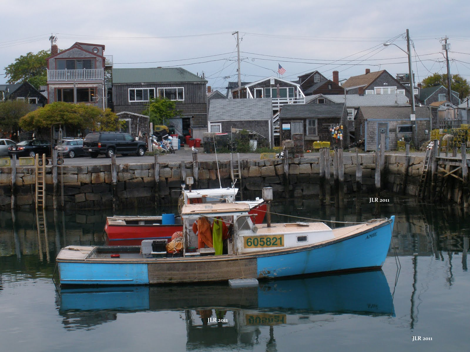 Rail and Ship Action: Lobster Boat In Rockport, Mass