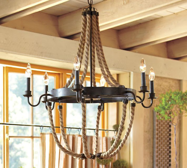 Nautical Rope Lighting Fixtures Driven by Decor : PotteryBarnGriffinRopeChandelier from www.drivenbydecor.com size 640 x 576 jpeg 95kB