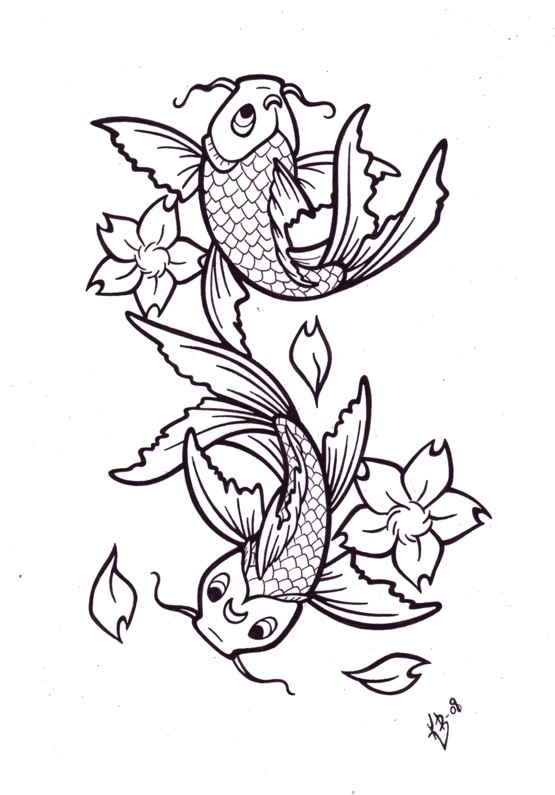 Zodiac Tattoo Designs There Is Only Here Koi Fish Tattoo