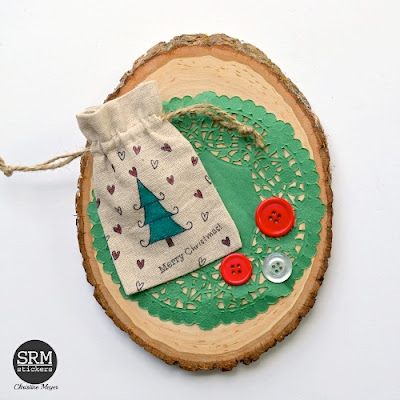 SRM Stickers - Christmas Bags & Tags by Christine - #christmas #canvastags #linenbags #janesdoodles #tistheseason #stampedstitches #stitches #giftbag #gifttag #tag #DIY