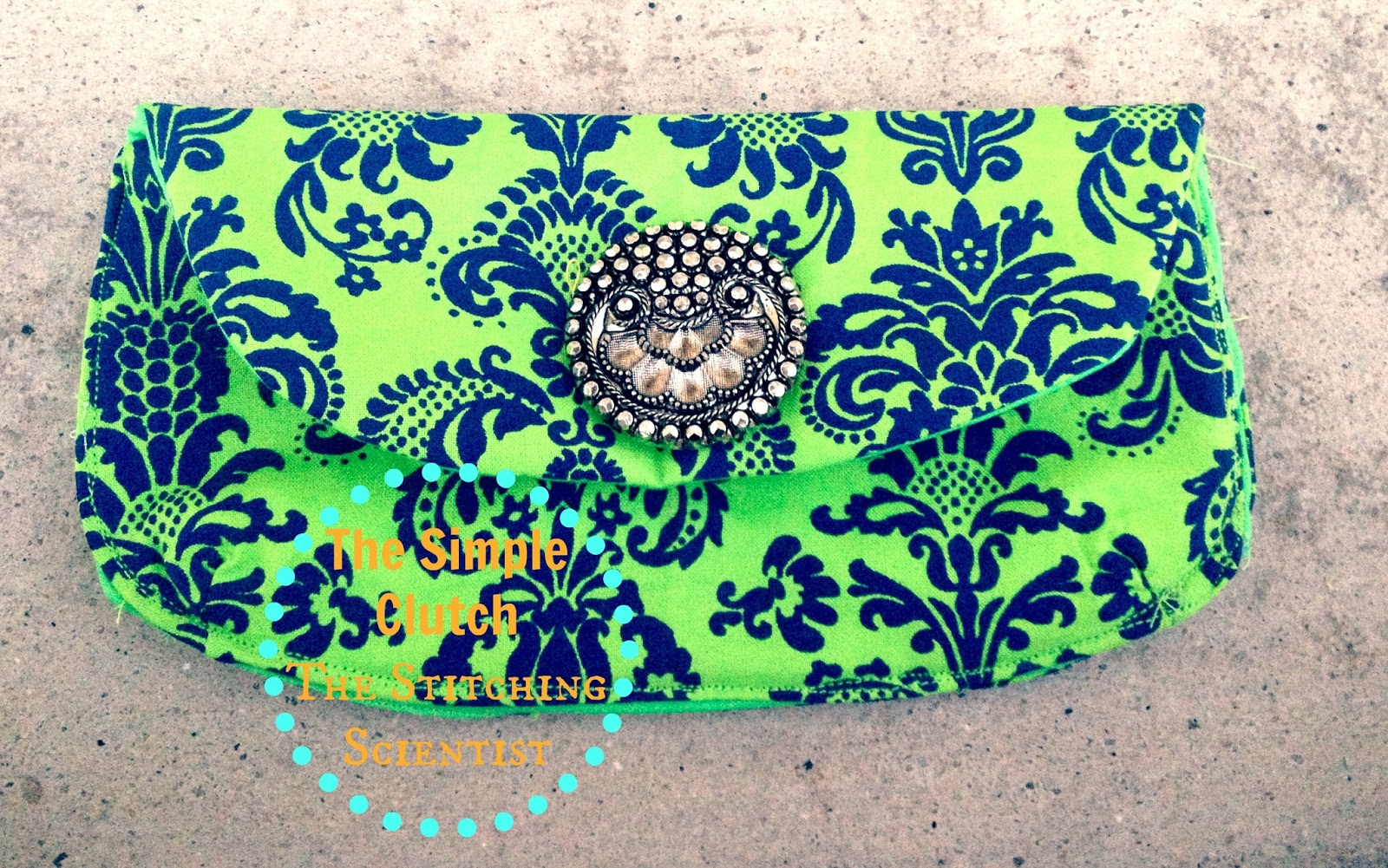 The simple clutch tutorial with free pattern the stitching scientist the simple clutch tutorial with free pattern jeuxipadfo Gallery