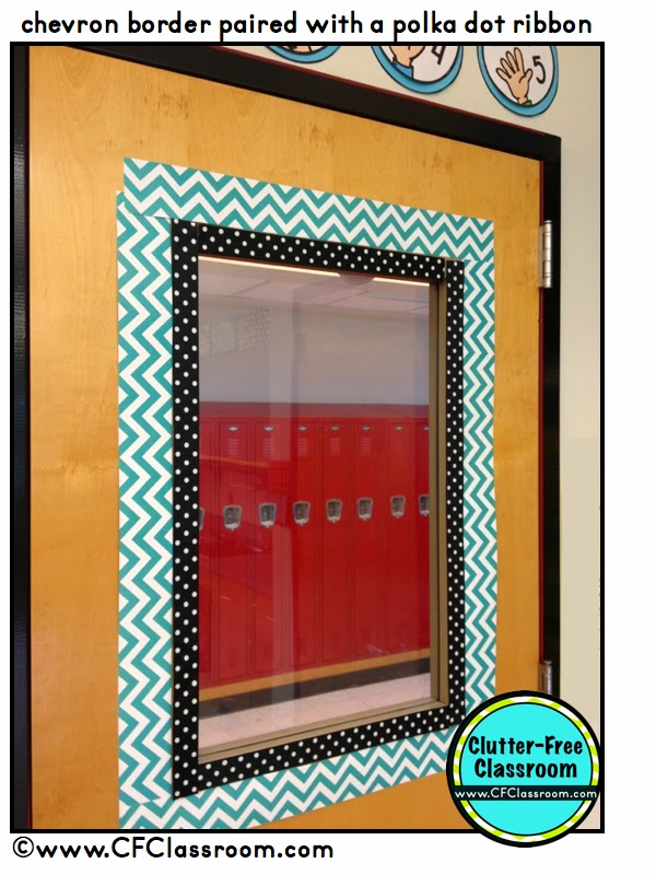 Classroom Management Decor ~ Clutter free classroom door decor