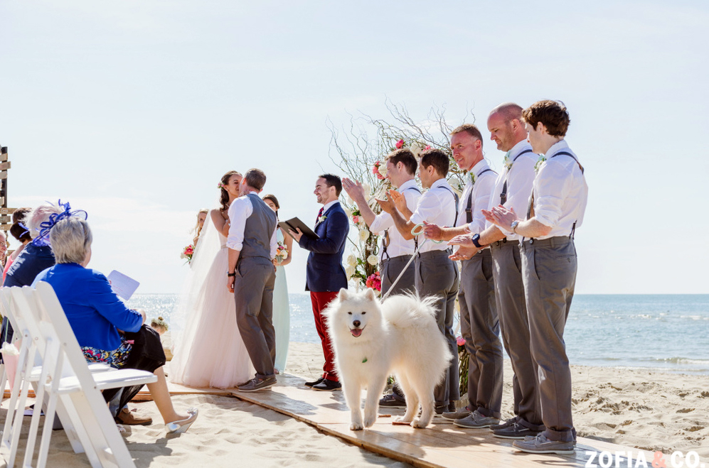 Nantucket Galley Beach Wedding Ceremony