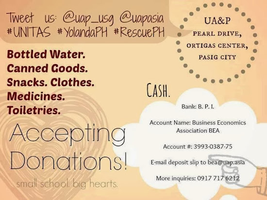 UA&P Typhoon Yolanda Relief Efforts