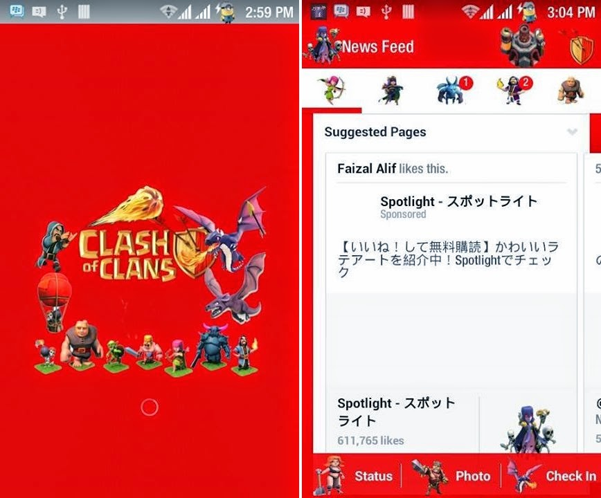 Facebook Mod Tema COC (Clash of Clans) Terbaru