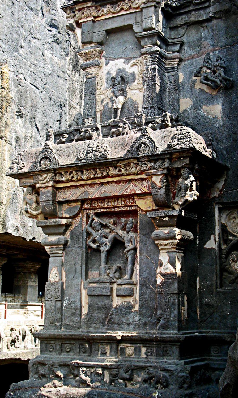 stock pictures ellora temple pillar carvings