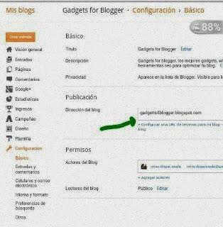 como configurar blogger