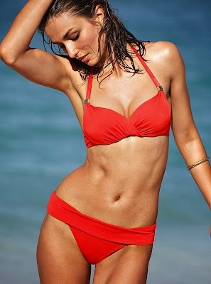 Andreea Diaconu hot model for Victoria's secret sexy swimwear photoshoot