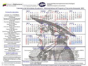 cronograma de actividades Académico-Administrativas 2013