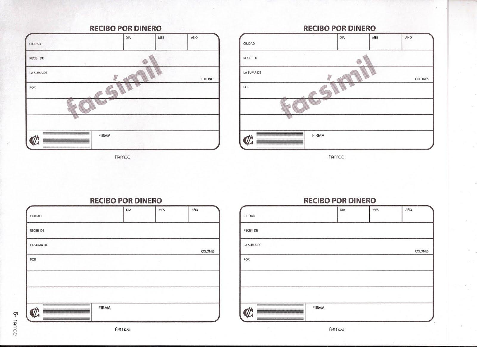 Pin recibo pago para imprimir gratis paraimprimirgratis for Modelo de recibo de nomina