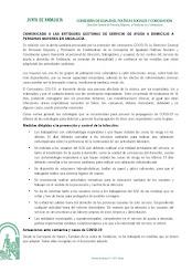 COMUNICADO A LAS ENTIDADES GESTORAS DE SERVICIO DE AYUDA A DOMICILIO A PERSONAS MAYORES EN ANDALUCÍ