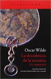 La decadencia de la mentira- Oscar Wilde