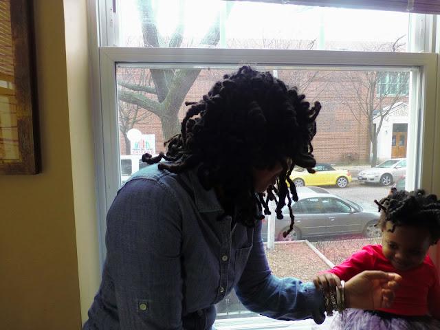 Violet admiring bracelets