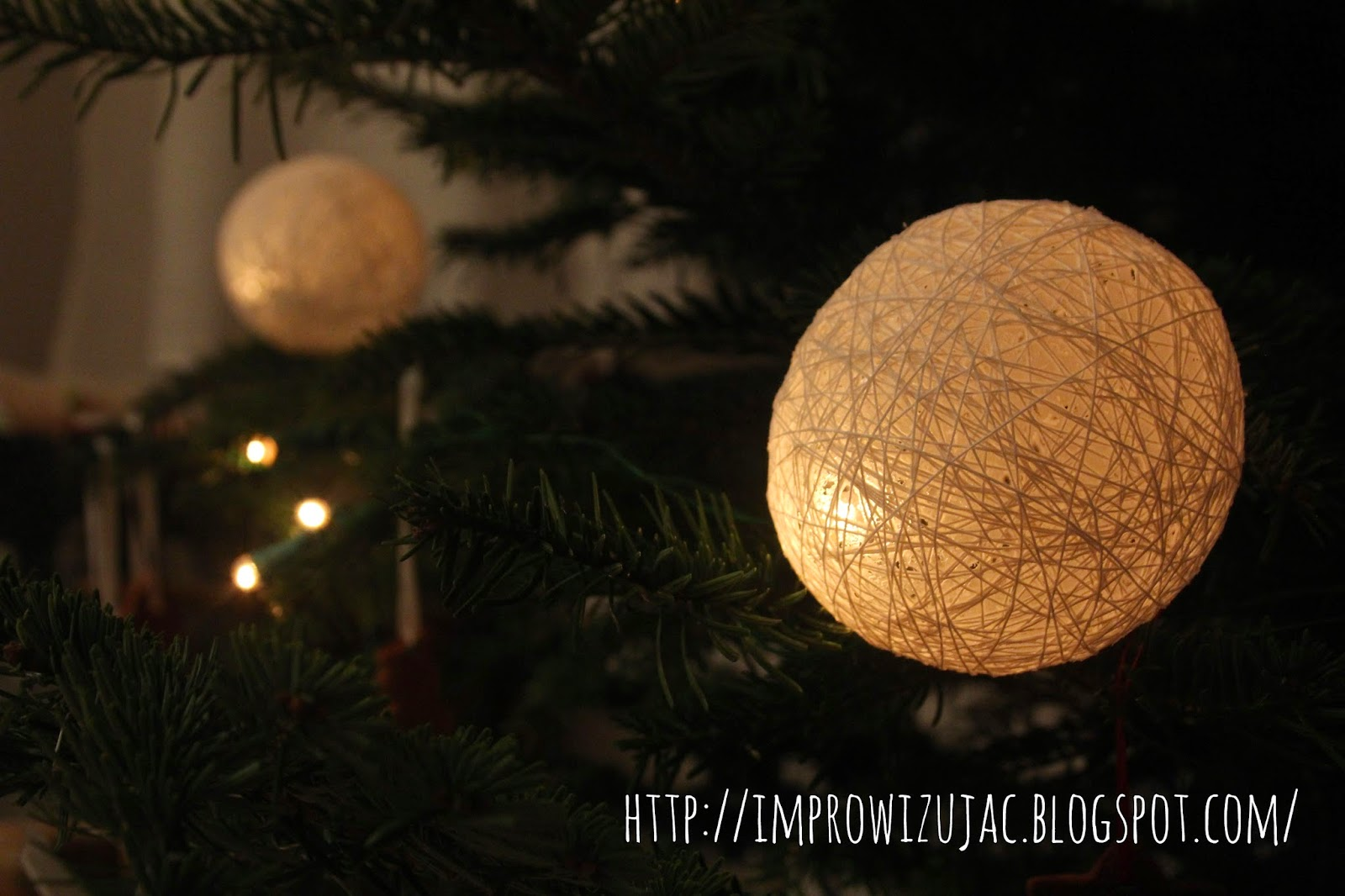 cotton light balls DIY