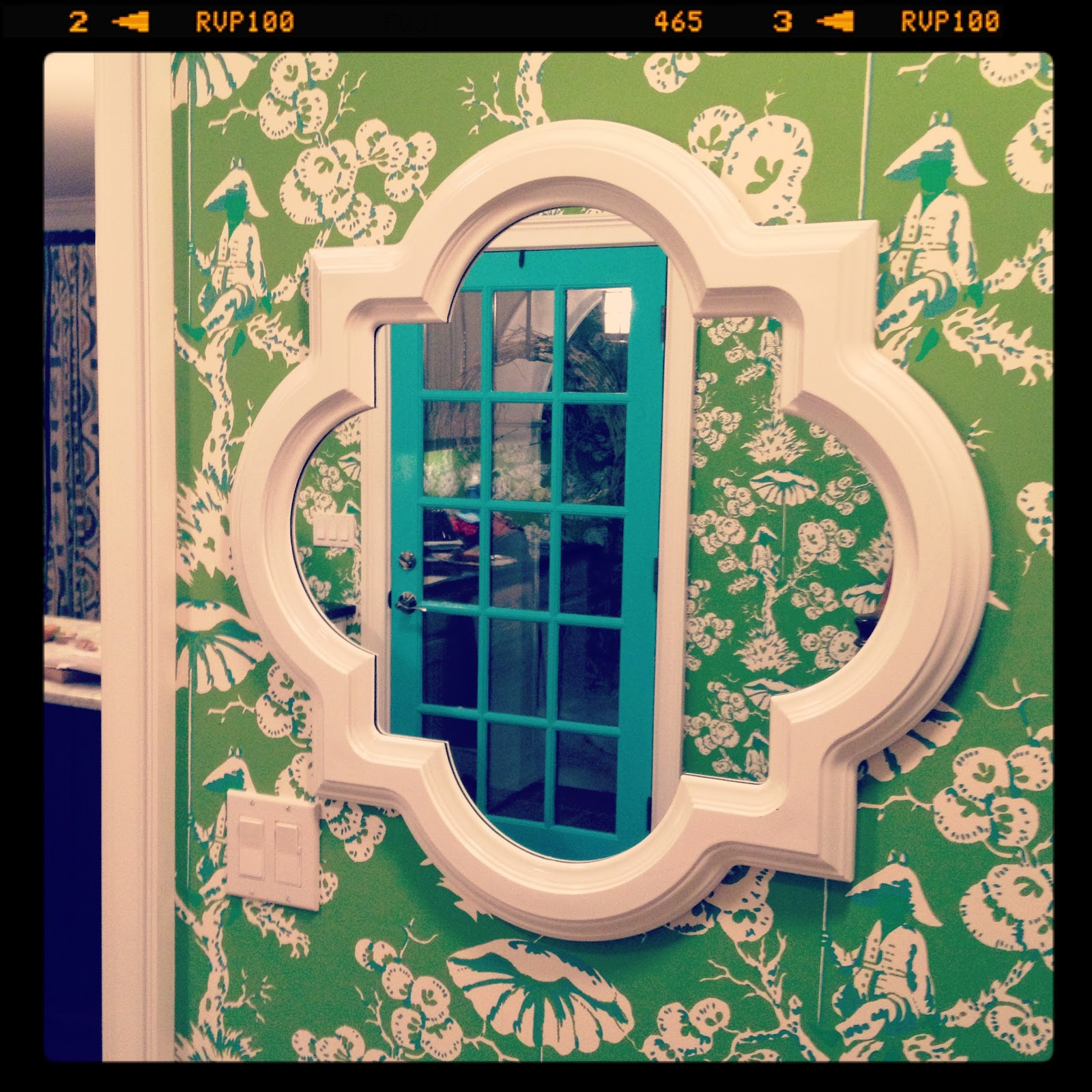 Ya'll may recall that I added the Meg Braff wallpaper to my mudroom this summer and I was psyched to spruce it it up!