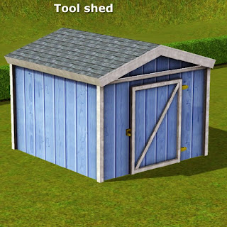 Simming in magnificent style tool shed caw optional for Garden shed gin