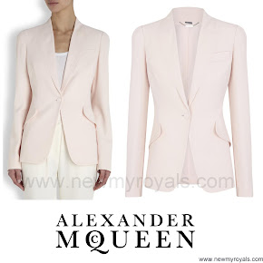 Princess Marie Style Alexander McQueen Light Pink Fitted Crepe Jacket