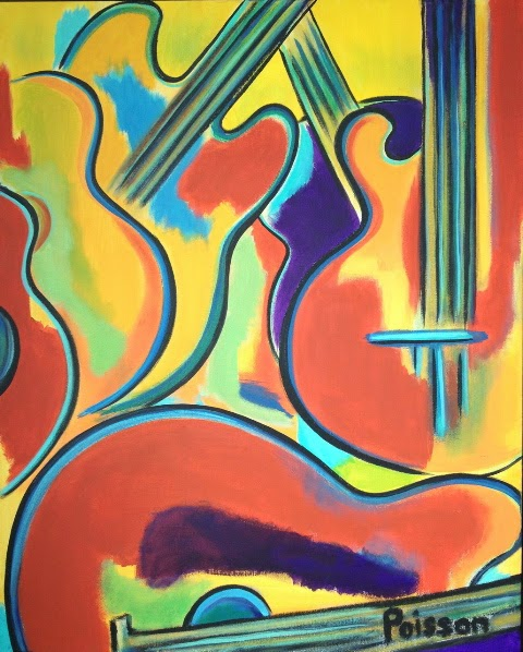 Contemporary Painters 2014 daily painters abstract gallery: contemporary pop art guitar