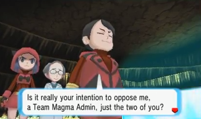 Team Magma gets up to no good in Meteor Falls.