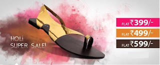Holi Super Sale on Women's Footwear: Buy for Flat Rs.399, Rs.499 & Rs.599 (Discounted upto 70%)