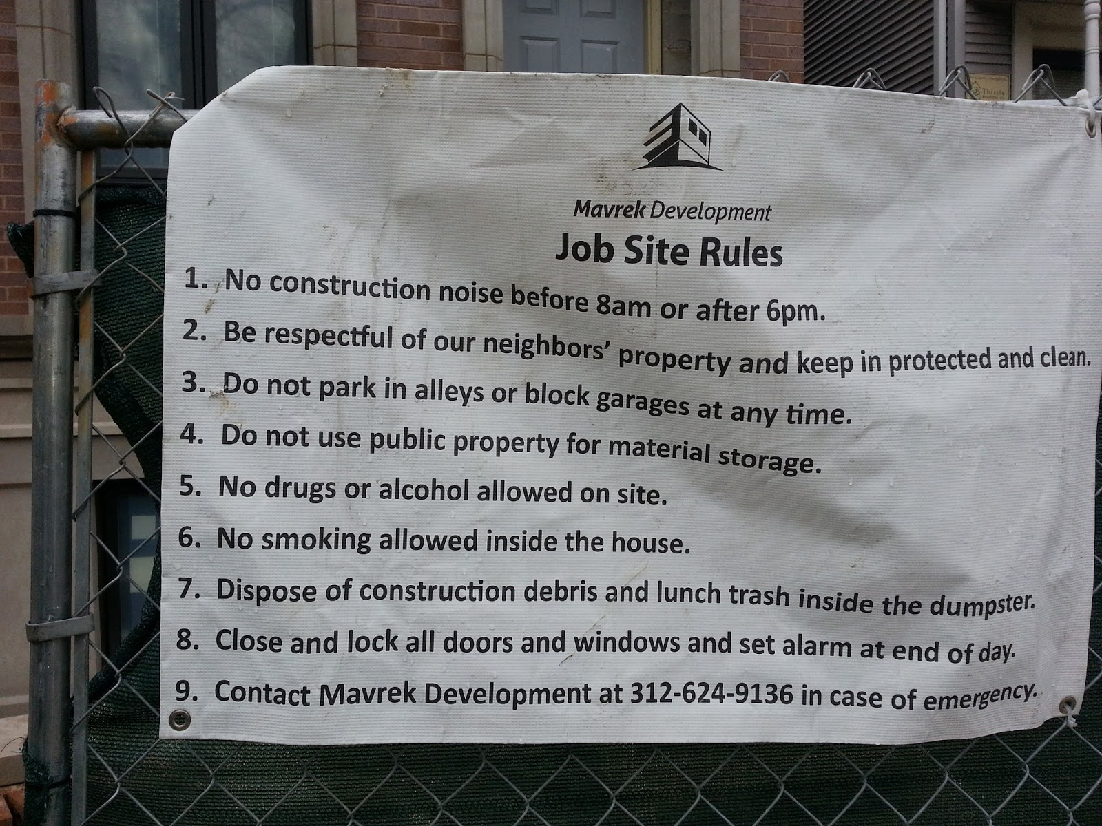 the chicago real estate local lakeview house builder plays by the i don t see this often and think it s a very good idea for developers and builders hopefully the construction has gone as well as this neighborly gesture