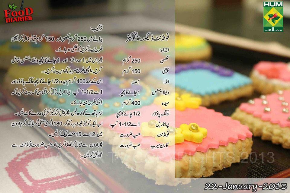 Fondant cake recipe in urdu