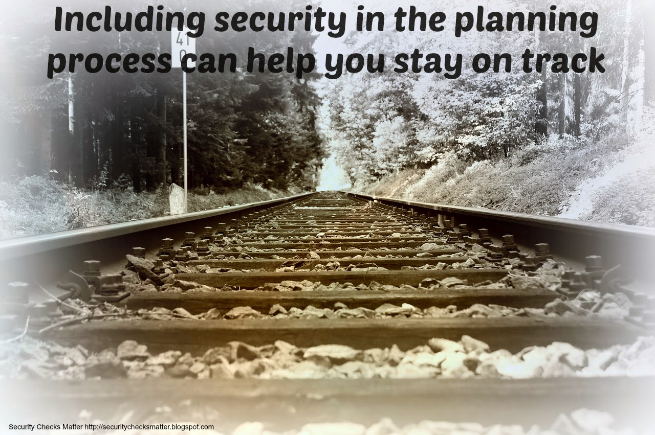 Railroad track security poster